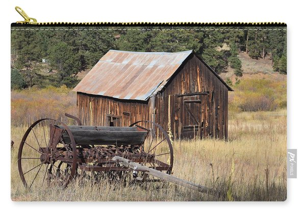Carry-all Pouch featuring the photograph Seed Tiller - Barn Westcliffe Co by Margarethe Binkley