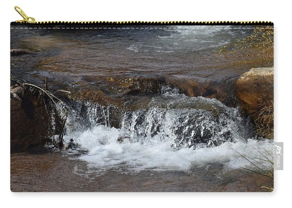 Carry-all Pouch featuring the photograph Waterfall Westcliffe Co by Margarethe Binkley