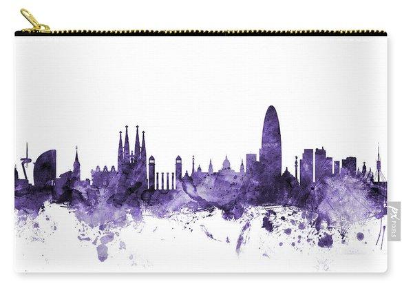 Barcelona Spain Skyline Carry-all Pouch
