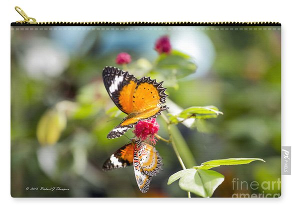 Carry-all Pouch featuring the photograph Butterfly by Richard J Thompson