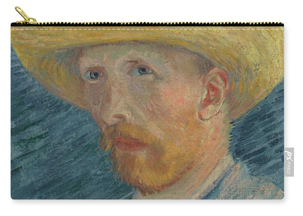 Self-portrait With Straw Hat Carry-all Pouch