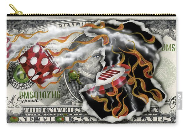 $1000 Bill Winning Big Carry-all Pouch