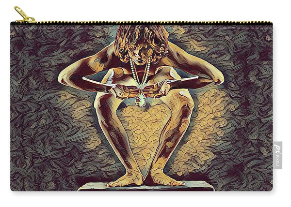 1083s-zac Dancer Squatting On Pedestal With Amulet Nudes In The Style Of Antonio Bravo  Carry-all Pouch