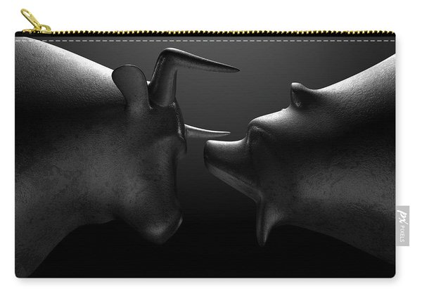 Bull Versus Bear Carry-all Pouch