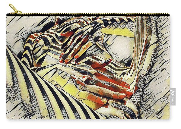 1177s-ak Abstract Nude Her Fingers On Pubis Erotica In The Style Of Kandinsky Carry-all Pouch