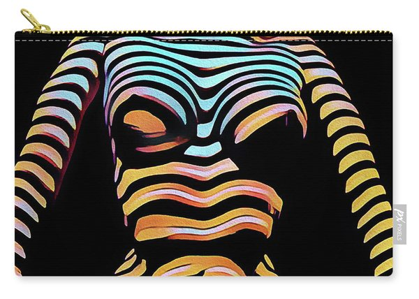 1205s-mak Seated Figure Zebra Striped Nude Rendered In Composition Style Carry-all Pouch