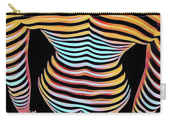 1262s-mak Woman's Strong Shoulders Back Hips Rendered In Composition Style Carry-all Pouch