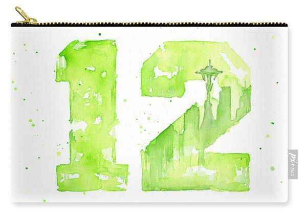12th Man Seahawks Art Go Hawks Carry-all Pouch
