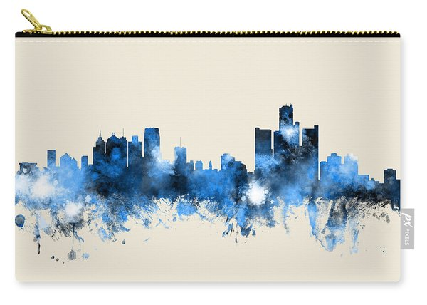 Detroit Michigan Skyline Carry-all Pouch