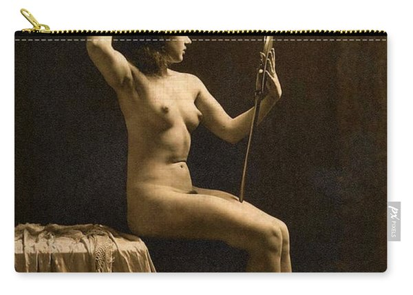 Digital Ode To Vintage Nude By Mb Carry-all Pouch