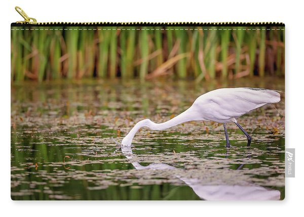 White, Great Egret Carry-all Pouch
