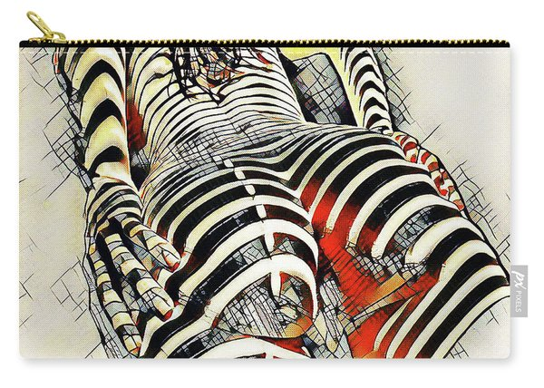 1457s-ak Rear View Nude Erotica In The Style Of Kandinsky Carry-all Pouch