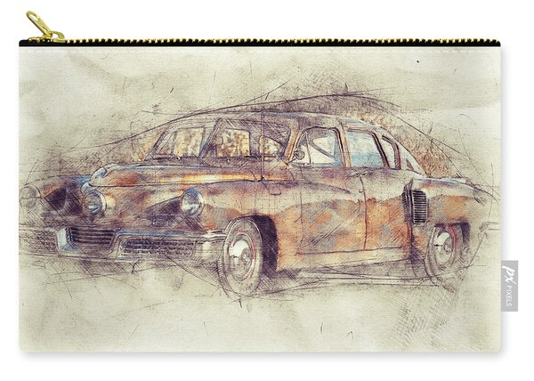 148 Tucker Torpedo - Tucker Sedan - Tucker 48 - 1948 - Automotive Art - Car Posters Carry-all Pouch