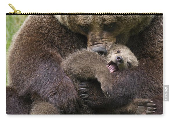 Mother Bear Cuddling Cub Carry-all Pouch
