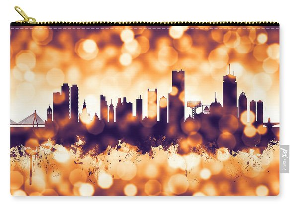 Boston Massachusetts Skyline Carry-all Pouch
