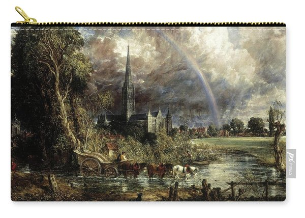 Salisbury Cathedral From The Meadows Carry-all Pouch