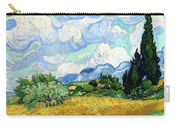 Wheat Field With Cypresses Carry-all Pouch