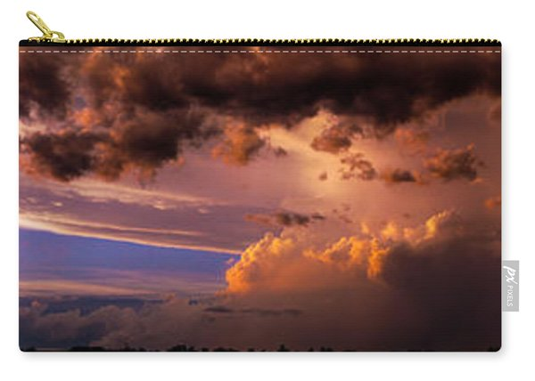 Carry-all Pouch featuring the photograph Nebraska Hp Supercell Sunset by NebraskaSC