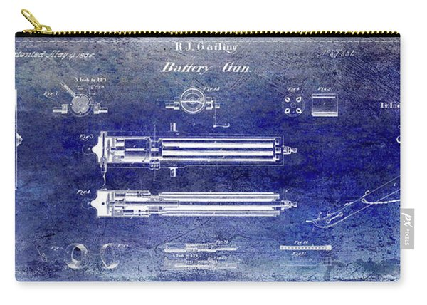 1865 Gatling Gun Patent Carry-all Pouch