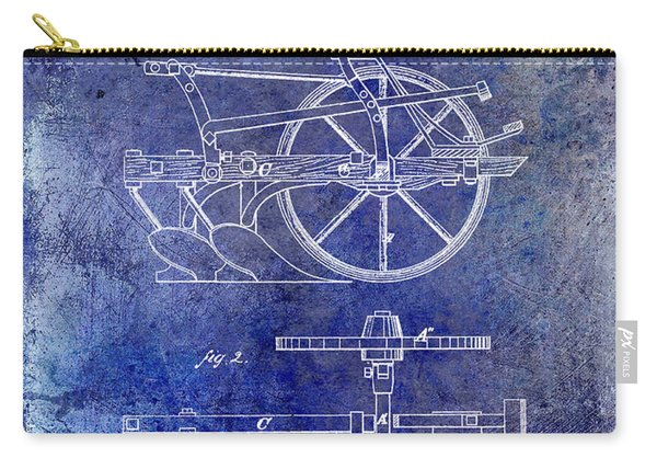 1870 Plow Patent Blue Carry-all Pouch