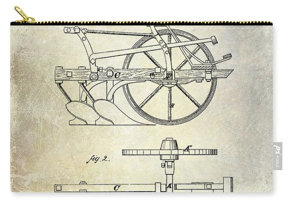 1870 Plow Patent Carry-all Pouch