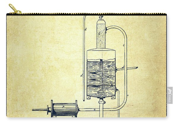 1874 Alcohol Purifying Apparatus Patent Fb77_vn Carry-all Pouch