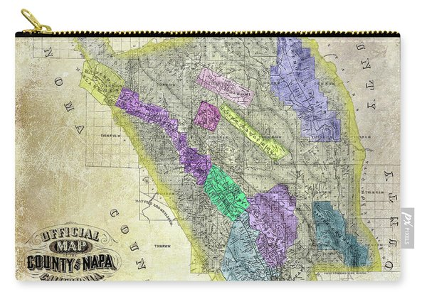 1876 Napa Valley Map Carry-all Pouch