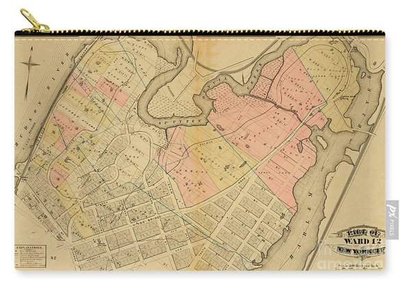 1879 Inwood Map  Carry-all Pouch