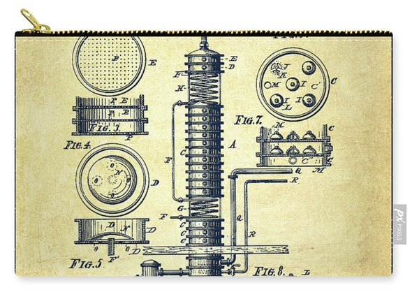 1880 Alcohol Still Patent Fb81_vn Carry-all Pouch