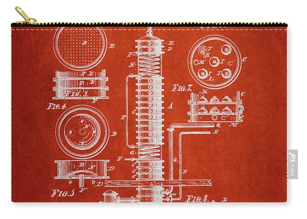 1880 Alcohol Still Patent Fb81_vr Carry-all Pouch
