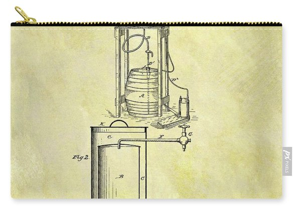 1881 Beer Cooler Patent Carry-all Pouch