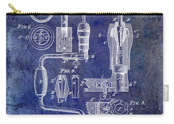 1883 Drill Patent Blue Carry-all Pouch