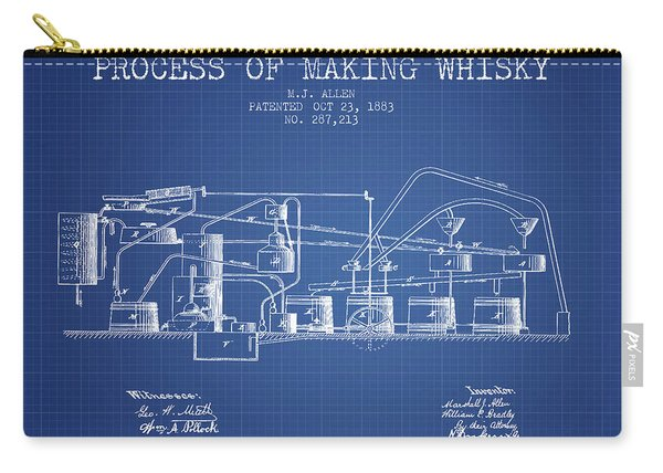 1883 Process Of Making Whisky Patent Fb76_bp Carry-all Pouch