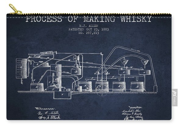 1883 Process Of Making Whisky Patent Fb76_nb Carry-all Pouch