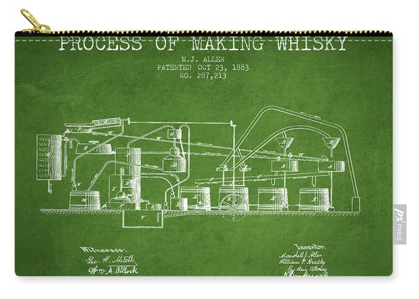 1883 Process Of Making Whisky Patent Fb76_pg Carry-all Pouch