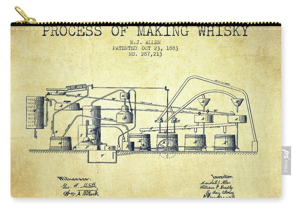 1883 Process Of Making Whisky Patent Fb76_vn Carry-all Pouch