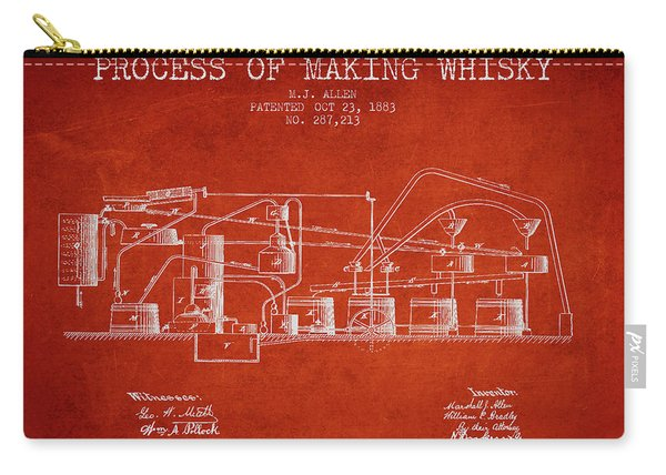 1883 Process Of Making Whisky Patent Fb76_vr Carry-all Pouch