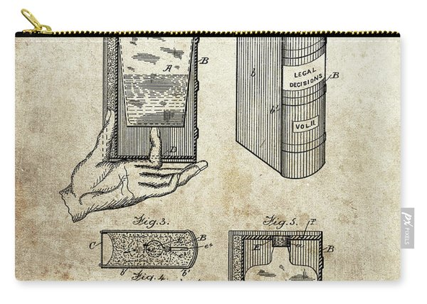 1885 Liquor Flask Patent Carry-all Pouch