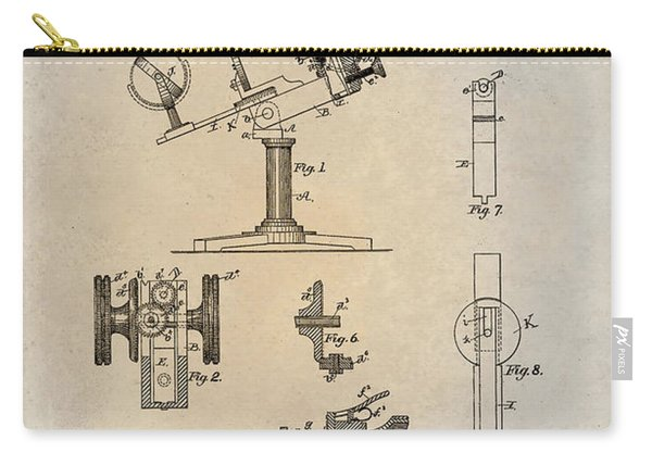 1886 Microscope Patent Art Fasoldt 1 Carry-all Pouch