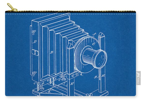 1888 Camera Us Patent Invention Drawing - Blueprint Carry-all Pouch