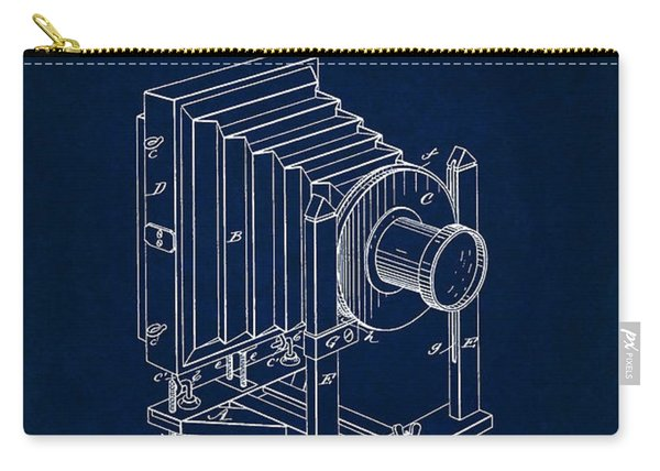 1888 Camera Us Patent Invention Drawing - Dark Blue Carry-all Pouch