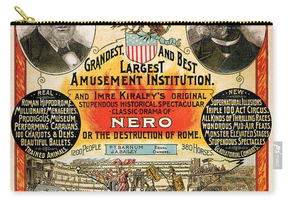 1890 - Circus Poster Carry-all Pouch