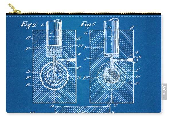 1902 Golf Ball Patent Artwork - Blueprint Carry-all Pouch