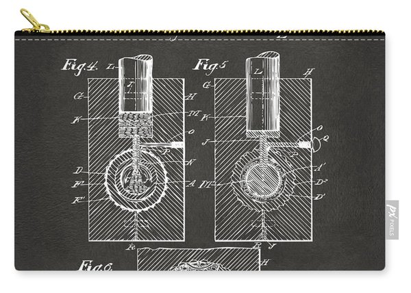 1902 Golf Ball Patent Artwork - Gray Carry-all Pouch