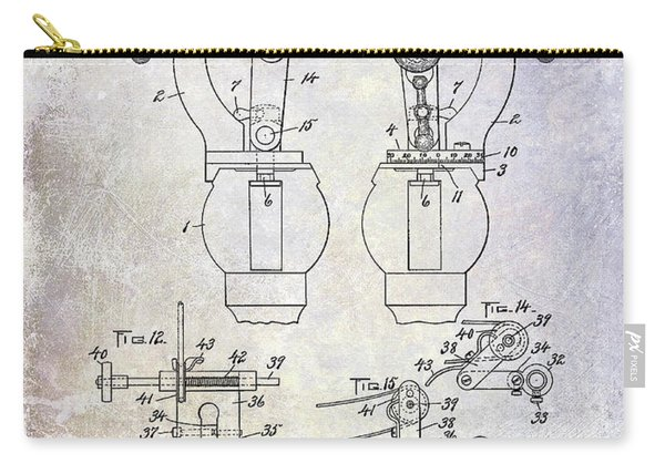 1902 Watchmakers Lathes Patent Carry-all Pouch