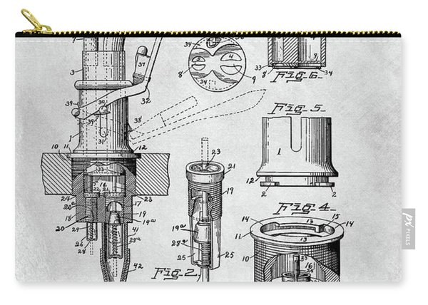 1903 Beer Tap Patent Carry-all Pouch
