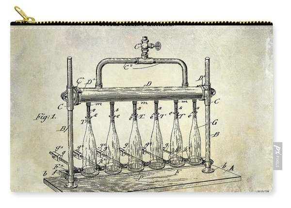 1903 Bottle Filling Patent Carry-all Pouch