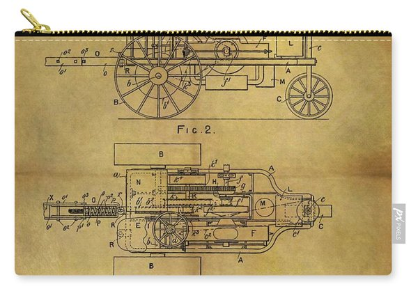 1903 Tractor Patent Carry-all Pouch