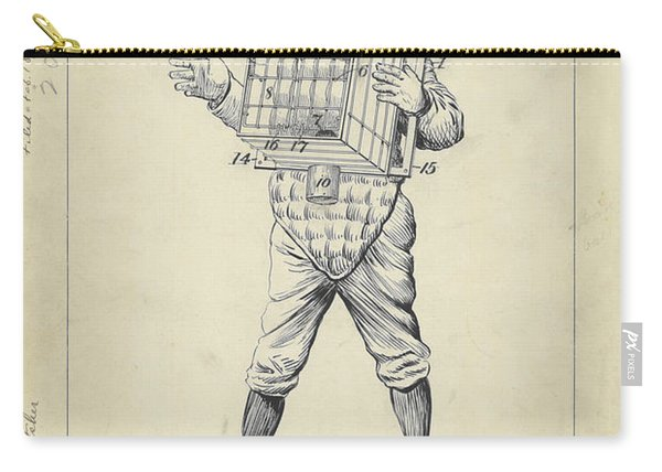 1904 Baseball Catcher Patent Carry-all Pouch