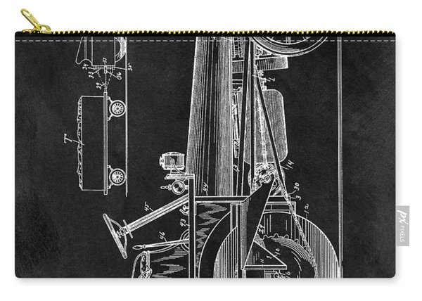 1907 Tractor Blueprint Patent Carry-all Pouch